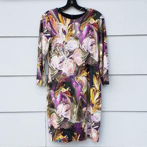 NWOT Karen Kane Floral 3/4 Sleeve Dress - Size M